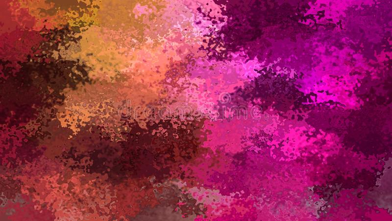 De samenvatting bevlekte van de patroonrechthoek bruine rode magenta roze kleur als achtergrond - moderne het schilderen kunst -  stock illustratie