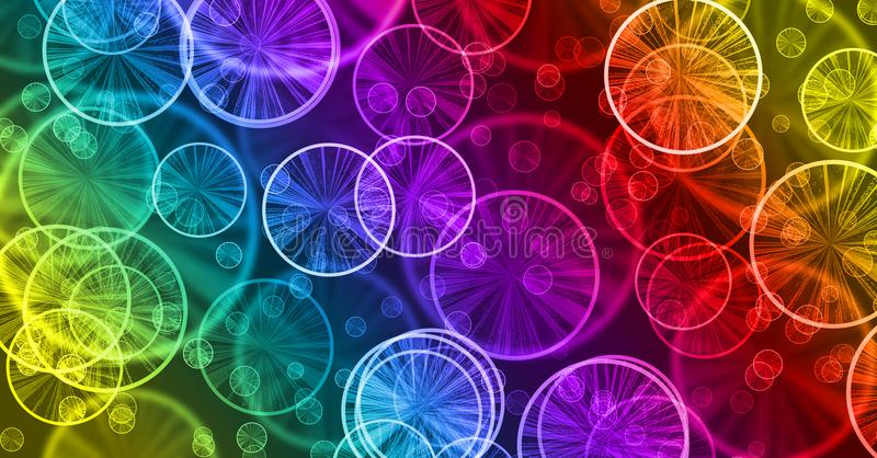 De samenvatting bokeh schittert mooie achtergrond, kleurrijke regenboog, vector illustratie