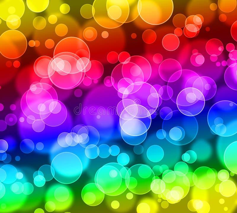 De samenvatting bokeh schittert, regenboog kleurrijke achtergrond royalty-vrije illustratie