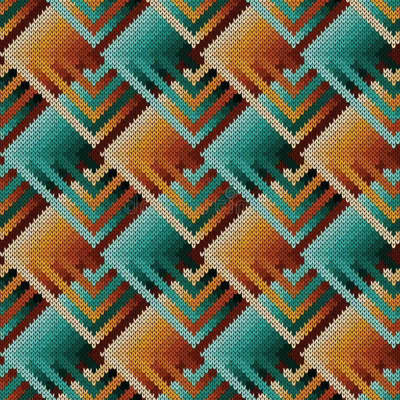 De samenvatting breide overladen naadloos patroon royalty-vrije illustratie