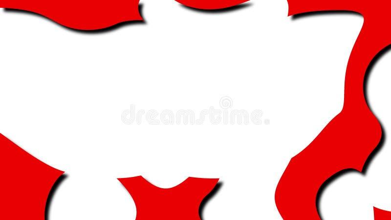 De samenvatting creatief als vloeibare vorm in 3d beeldverhaalstijl, geeft computer geproduceerde achtergrond voor creatief terug royalty-vrije illustratie
