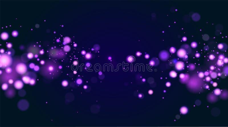 De samenvatting defocused cirkelbokehfonkeling schittert lichtenlay-out De magische Achtergrond van Kerstmis Elegant, glanzend, b vector illustratie