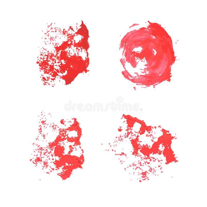 De samenvatting isoleerde kleurrijke vectorwaterverfvlek royalty-vrije illustratie