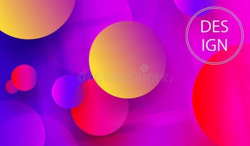 De samenvatting kleurde helder ontwerp met chaotically geschilderde multicolored cirkels royalty-vrije illustratie