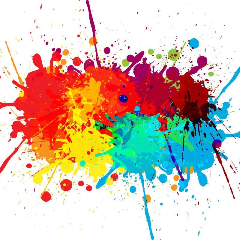 De samenvatting ploetert de achtergrond van het kleurenontwerp illustratie D royalty-vrije illustratie