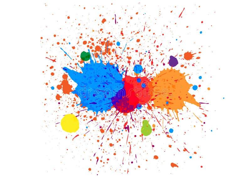 De samenvatting ploetert kleurenachtergrond Het ontwerp van de illustratie stock illustratie