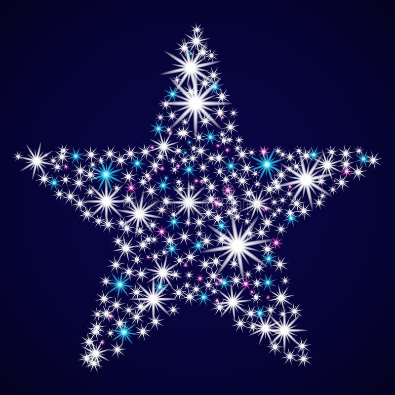 De samenvatting schittert ster vector illustratie