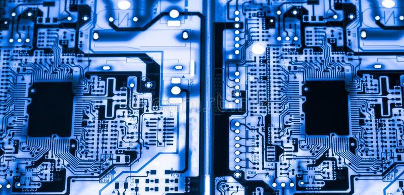 De samenvatting, sluit omhoog van de Elektronische computerachtergrond van Mainboard logicaraad, cpu-motherboard, Hoofdraad, syst stock afbeelding