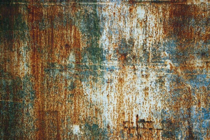 De samenvatting tastte kleurrijke roestige metaalachtergrond, roestig metaal t aan stock afbeeldingen