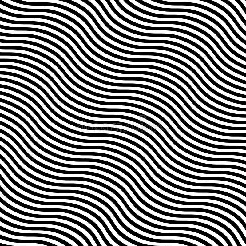 De samenvatting trok Zwart-witte Lijnenachtergrond scheef stock illustratie