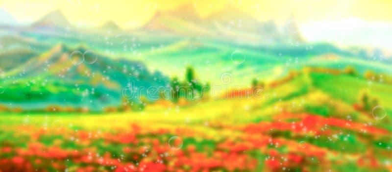 De samenvatting vage achtergrond van het de zomergebied stock foto