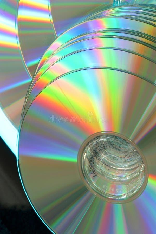 De samenvatting van compact-discs. Mededeling, veiligheid royalty-vrije stock foto