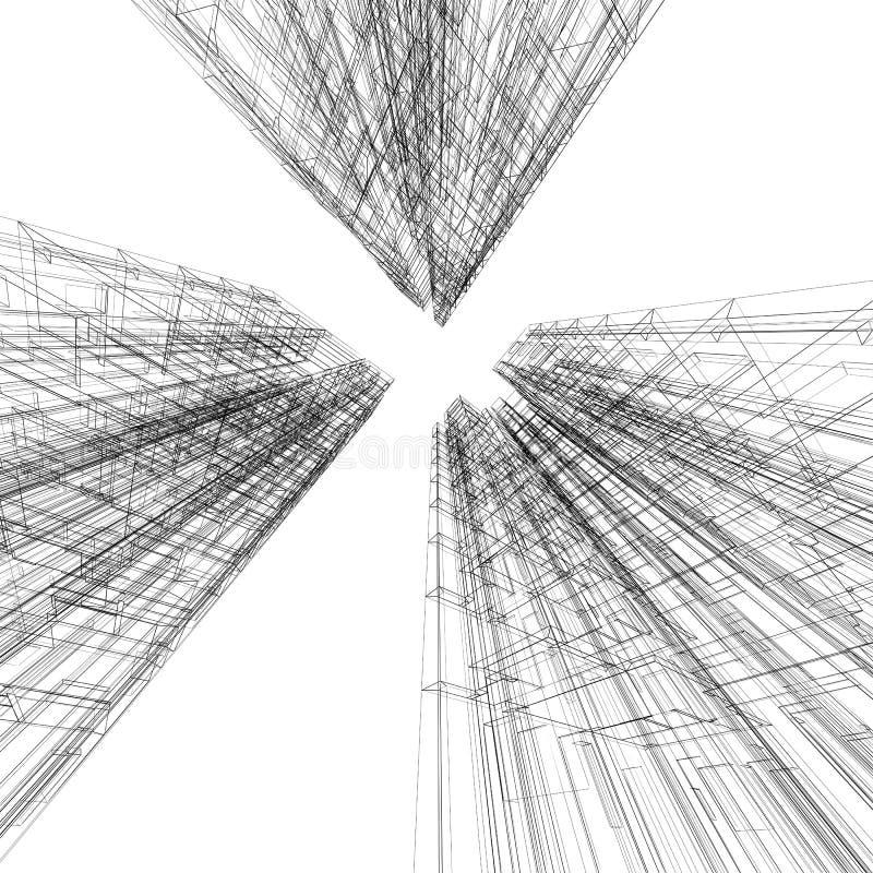 De samenvatting van de architectuur royalty-vrije illustratie