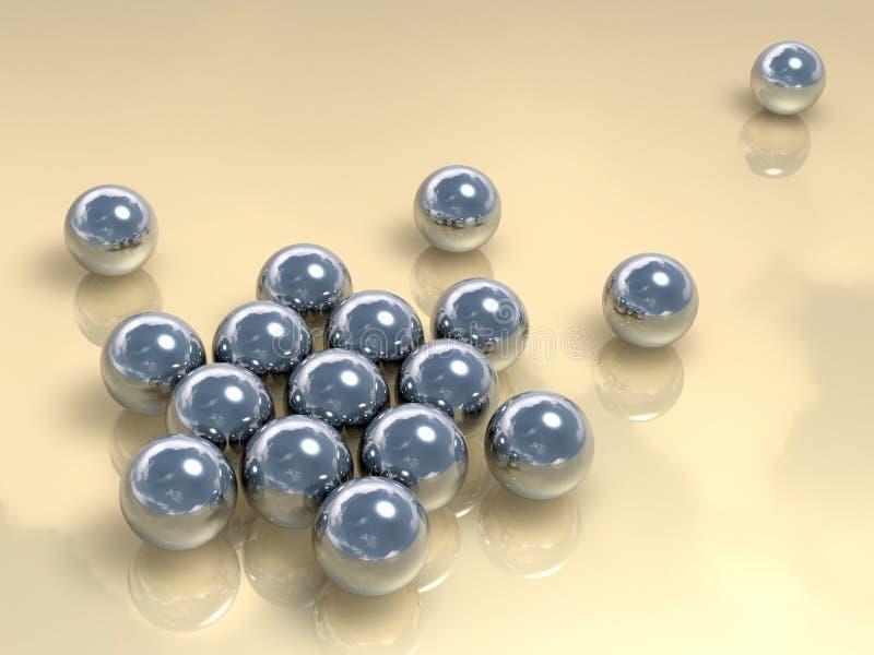 De Samenvatting van de Ballen van het chroom royalty-vrije illustratie