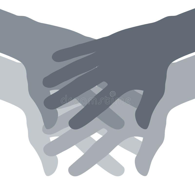 De Samenvatting van de Handen van het groepswerk stock illustratie