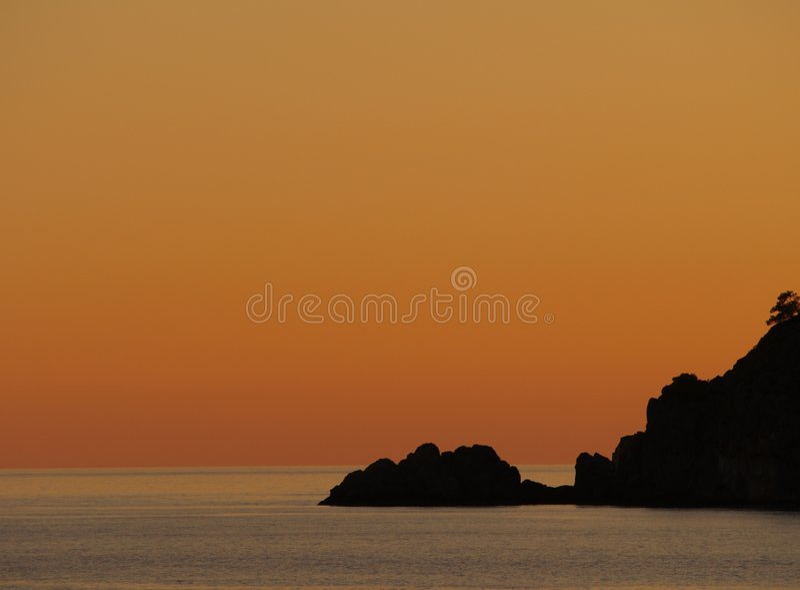De Samenvatting van de Hemel van de zonsondergang stock afbeeldingen