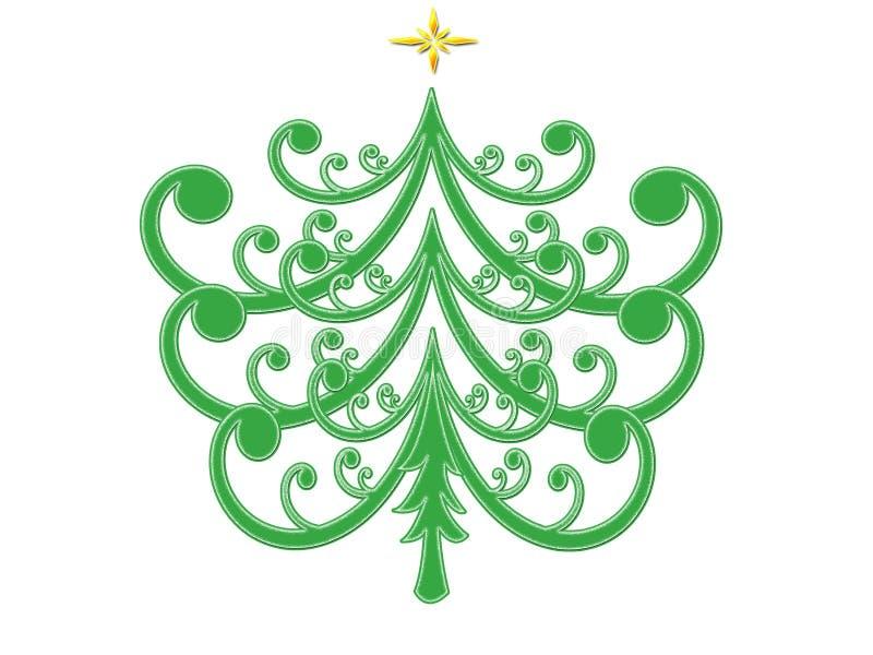 De Samenvatting van de kerstboom vector illustratie