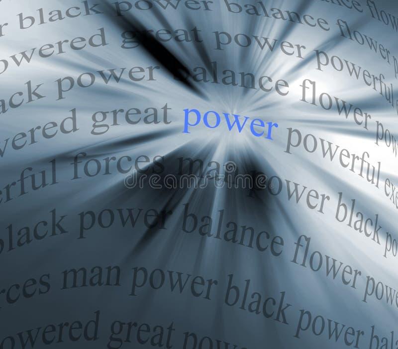 De samenvatting van de macht stock illustratie