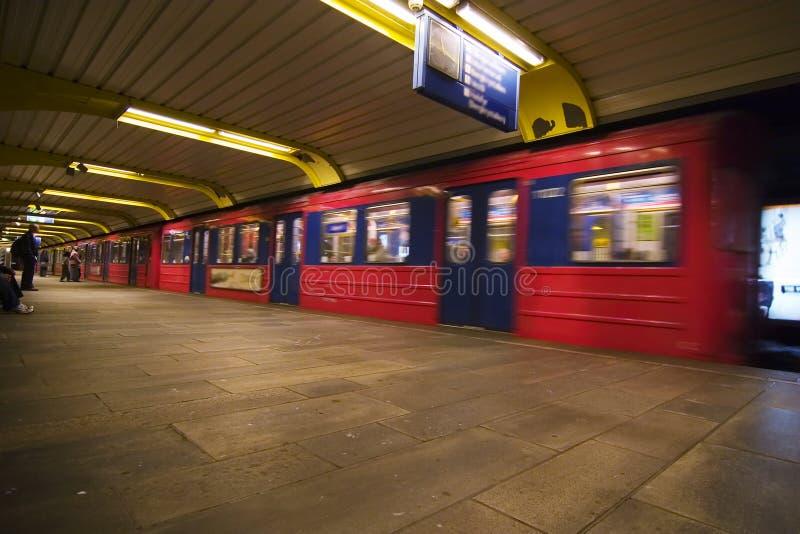 De Samenvatting van de metro stock foto