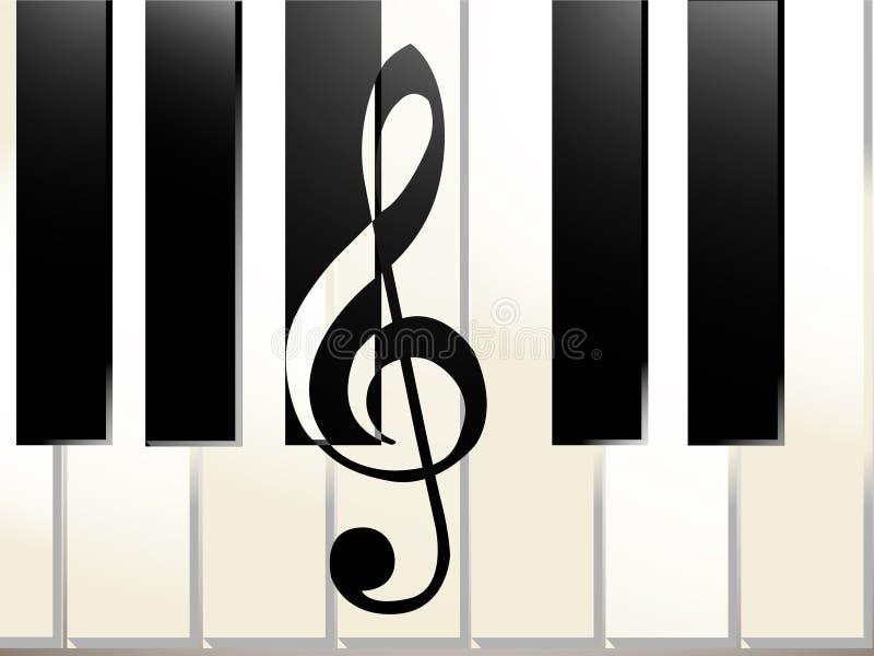 Pianosamenvatting stock afbeeldingen