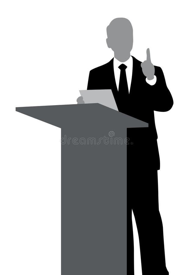 De Samenvatting van de spreker stock illustratie