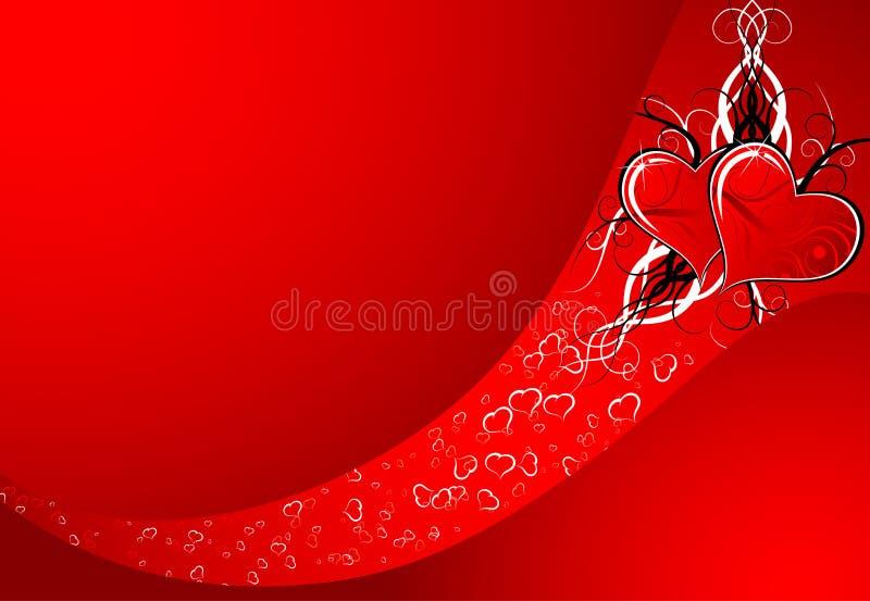 De samenvatting van de valentijnskaart vector illustratie