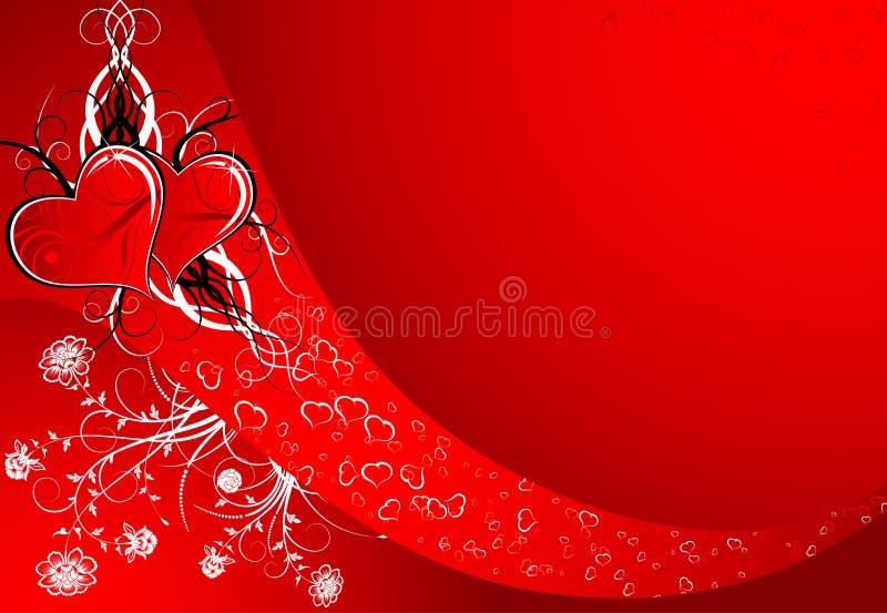 De samenvatting van de valentijnskaart stock illustratie