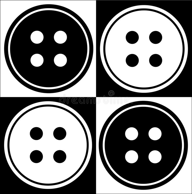 De samenvatting van de vier gatenknoop stock illustratie