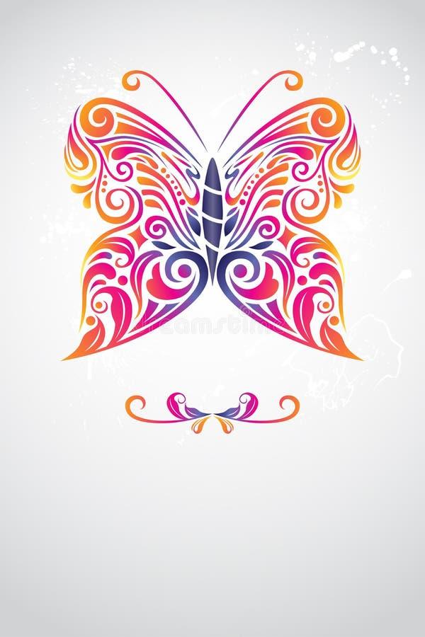 De samenvatting van de vlinder royalty-vrije illustratie