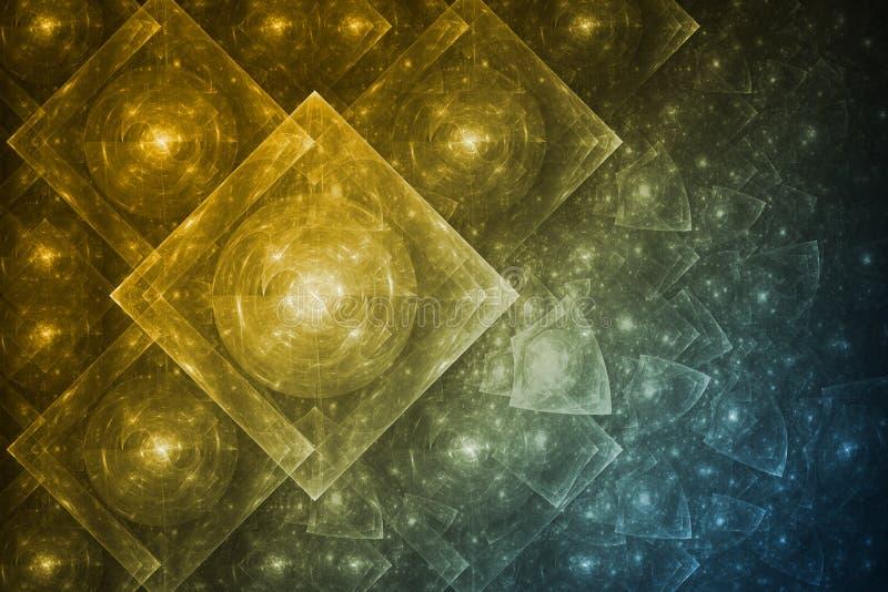 De Samenvatting van de Vorming van het kristal vector illustratie