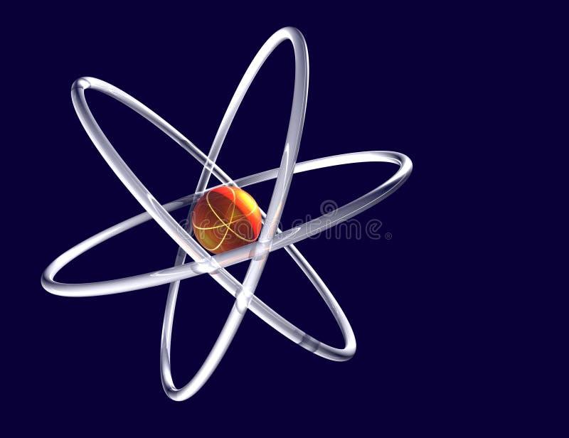 De samenvatting van het atoom stock foto