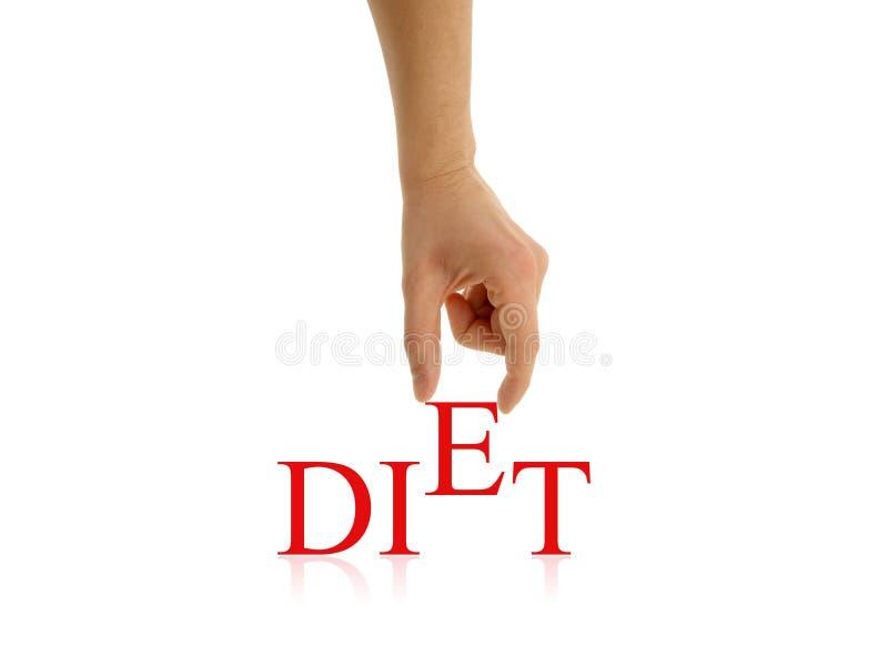 De samenvatting van het dieet royalty-vrije stock foto