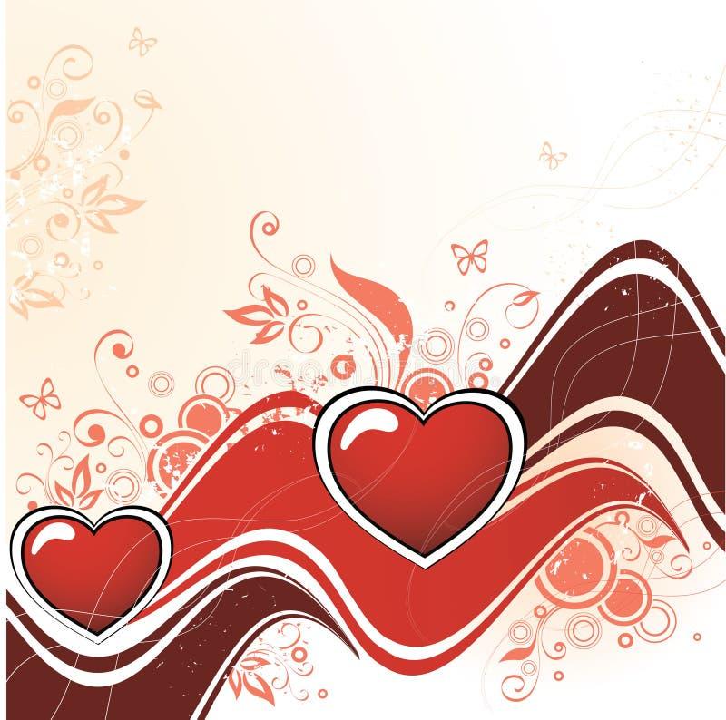 De Samenvatting van het hart vector illustratie
