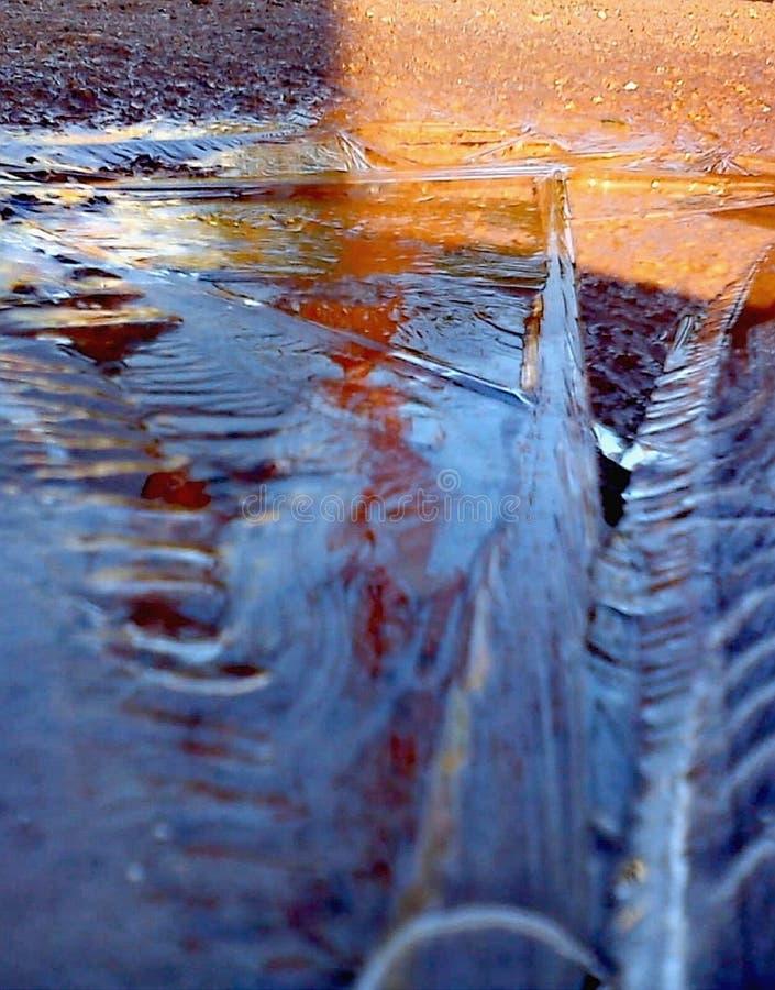 De samenvatting van het ijs stock afbeelding