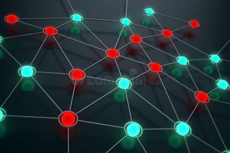 De samenvatting van het netwerk vector illustratie