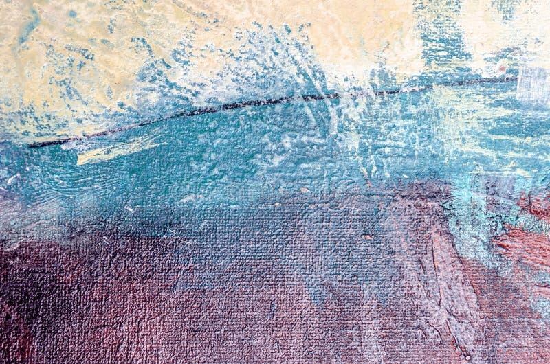 De samenvatting van het olieverfschilderij royalty-vrije stock afbeelding