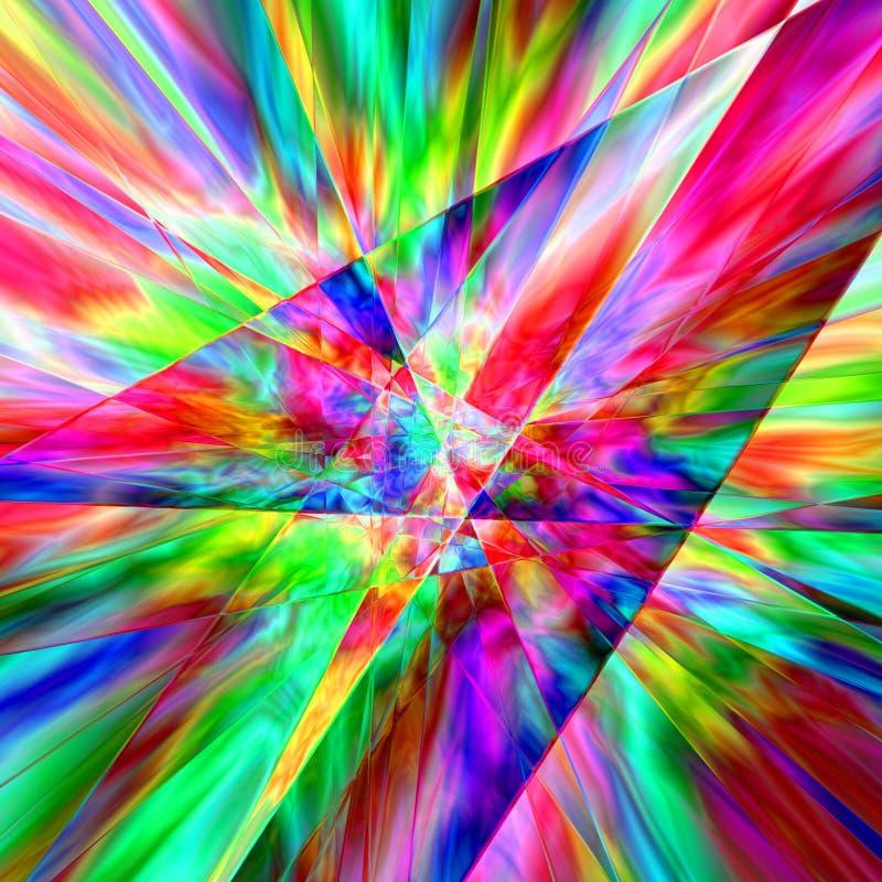 De Samenvatting van het prisma stock illustratie