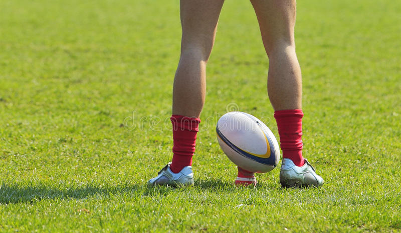 De samenvatting van het rugby royalty-vrije stock fotografie
