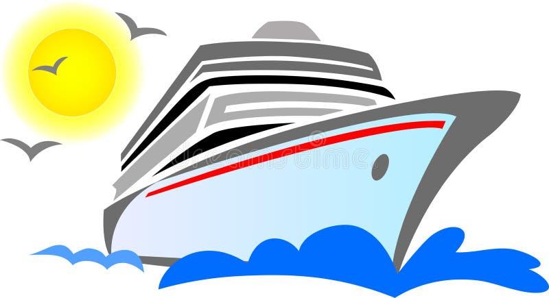 De Samenvatting van het Schip van de cruise stock illustratie