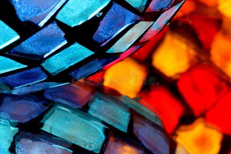De samenvatting van het vlekglas stock foto