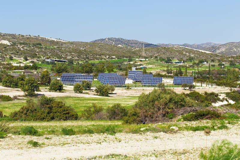 De samenvatting van het zonnepaneeldetail - hernieuwbare energiebron royalty-vrije stock foto