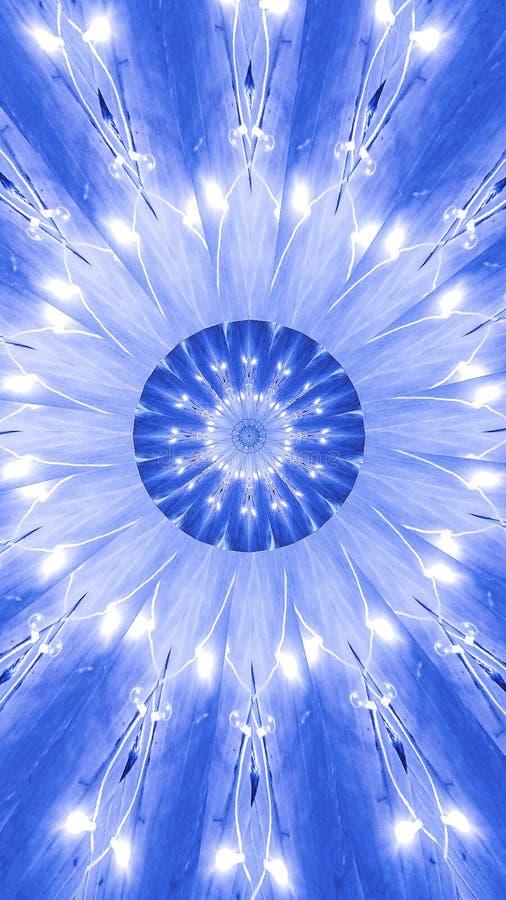De Samenvatting van de Kalaidoscopebanner van lichten in schaduwen van blauw royalty-vrije stock fotografie