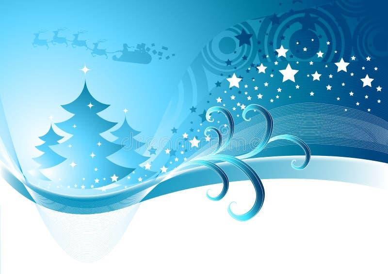 De Samenvatting van Kerstmis van de winter stock illustratie