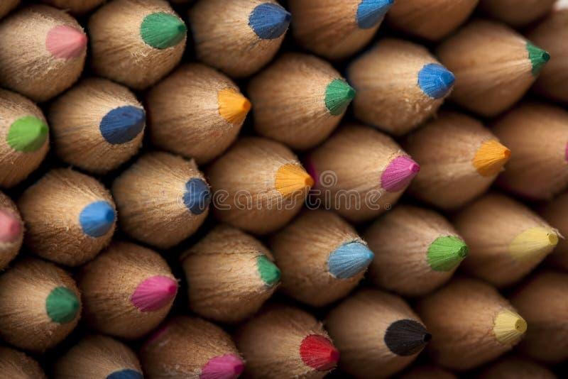 De Samenvatting van kleurpotloden! stock fotografie