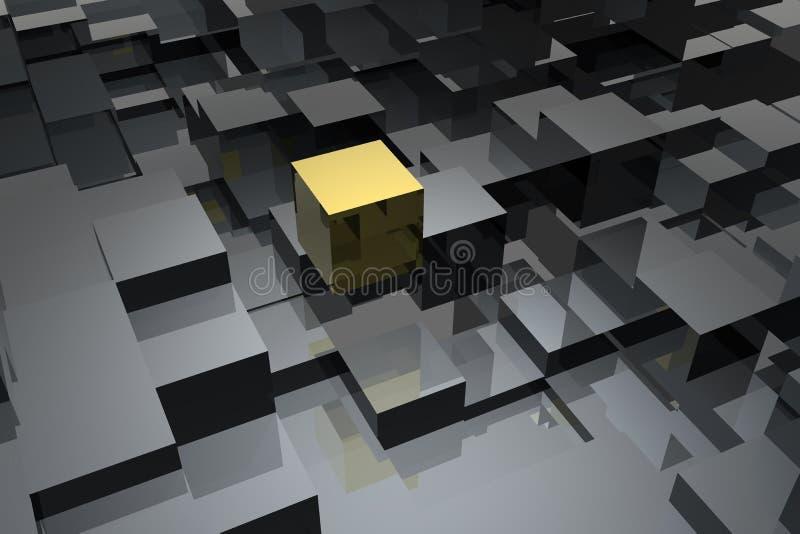 De samenvatting van kubussen stock illustratie