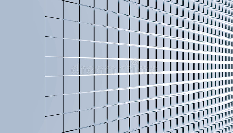 De samenvatting van kubussen royalty-vrije illustratie