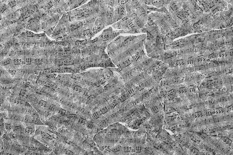 De Samenvatting van muzieknota's voor Behang of Achtergrond II royalty-vrije stock fotografie