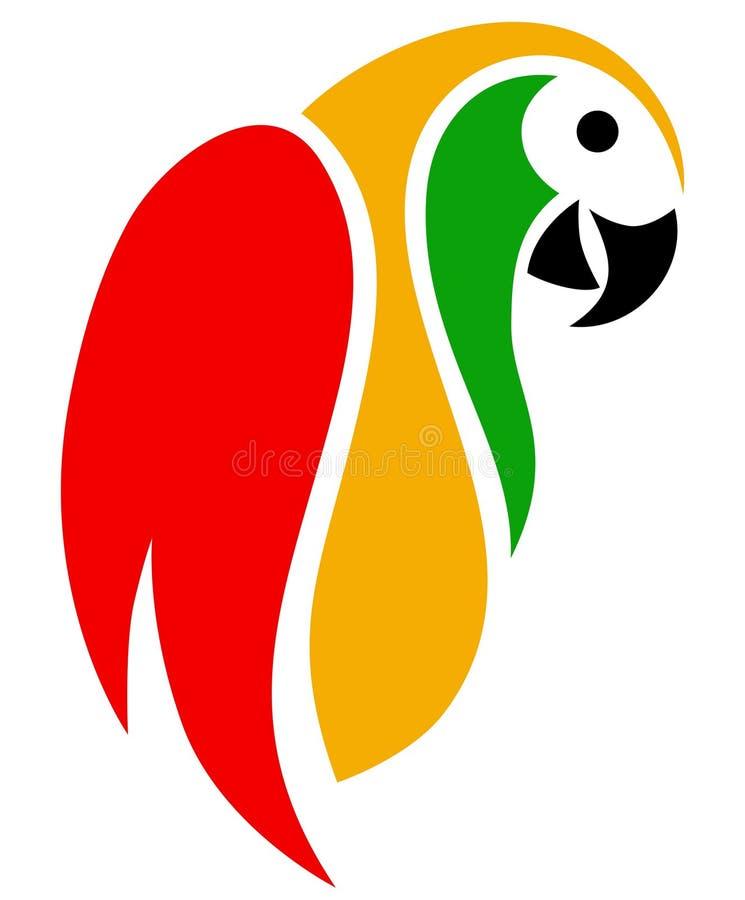 De samenvatting van papegaaikleuren royalty-vrije stock afbeeldingen