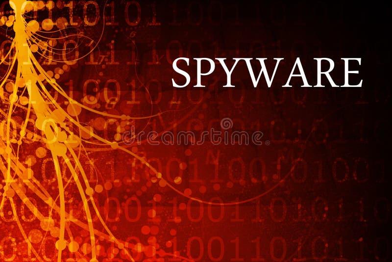 De Samenvatting van Spyware stock illustratie