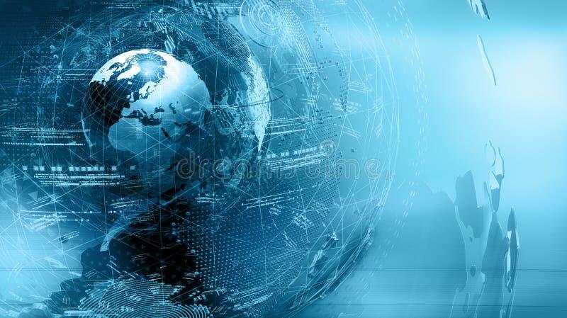 De samenvatting van de wereldkaart stock afbeelding
